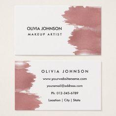 Faux Rose Gold Foil Makeup Artist Business Cards - makeup artist gifts style stylish unique custom stylist