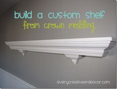 custom shelf from crown molding