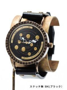 天体観測(ゴールド) 手作り腕時計/クオーツ時計 - dedegumo online shop (デデグモ)京都発手作り時計とアクセサリーのお店