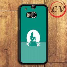 Little Mermaid Ariel HTC One M8 Black Case