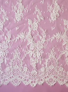 lvory lace fabric | Ivory Corded Lace Fabric