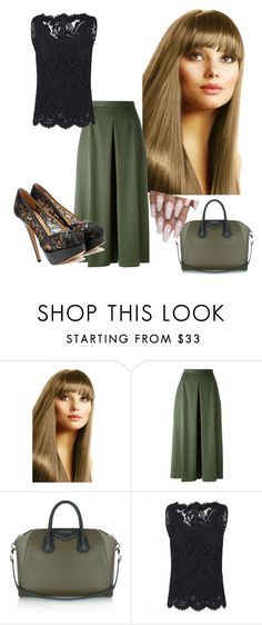 """""""look"""" by christevacollins ❤ liked on Polyvore featuring Alexander McQueen, Givenchy, Dolce&Gabbana and Charlotte Olympia"""