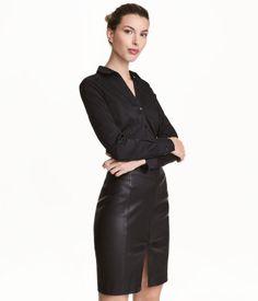Skjorte med stretch | Sort | Dame | H&M DK