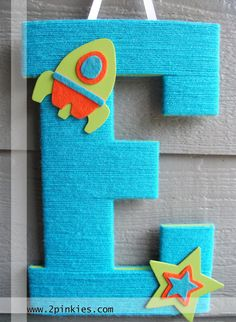 Large Wooden Letter -- Letters for Nursery by TwoPinkies #TwoPinkies #Baby Boy