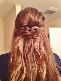Bridesmaid Hair  Half up with braids