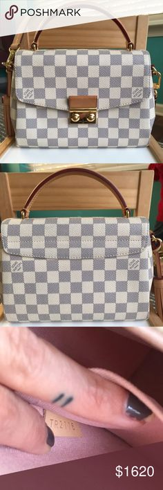 513ba7ba3af6 Louis Vuitton Croisette Damien Azure ✨DAMIER AZUR CROISETTE✨ Crossbody shoulder  bag. Perfect
