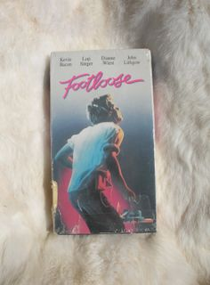 "Vintage 1984 VHS copy of John Lithgow and Kevin Bacon's ""Footloose"" epic dance film teen dance romance freedom flick"