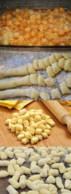 Massa Rápida De Nhoque #massa #receita #culinária #pilotandofogão Potato Recipes, Snack Recipes, Dessert Recipes, Cooking Recipes, Healthy Recipes, Snacks, I Love Food, Good Food, Yummy Food