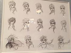 Various views of Elsa from Frozen.