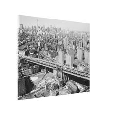 Manhattan Black and White Photograph Canvas Print