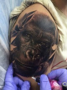Tattoo Apes Head  - http://tattootodesign.com/tattoo-apes-head/  |  #Tattoo, #Tattooed, #Tattoos