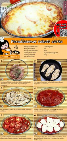 Tomaten-Hähnchen-Auflauf Rezept mit Video - Hähnchenrezepte Tomato and Chicken Bake Recipe with Video pour un dîner sain Chicken Recipes Video, Baked Chicken Recipes, Crockpot Recipes, Chicken Casserole, Casserole Recipes, Le Diner, Healthy Dinner Recipes, Food Videos, Baking Recipes