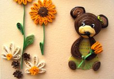 Quilling Animals, Quilling Flowers, Quilling Cards, Paper Quilling, Quilling Designs, Quilling Ideas, Sunflowers And Daisies, Paper Art, Paper Crafts
