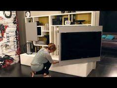 Smart Living by Ozzio Design - parete attrezzata, mobile porta tv, wall unit with tv stand - YouTube