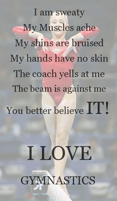 gymnastics problems flexibility CheerleadingYou can find Gymnastics quotes and more on our website. Funny Gymnastics Quotes, Inspirational Gymnastics Quotes, Gymnastics Posters, Gymnastics Pictures, Cheerleading Quotes, Volleyball Quotes, Gymnastics Stretches, Gymnastics Flexibility, Gymnastics Workout
