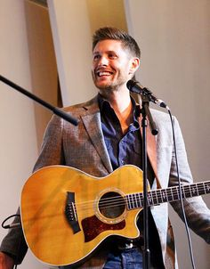 dancewithmejensen:  @JensenAckles at @jasonmanns concert at #Asylum14 . That guitar suits him very well! :)  @eyesonly23  Exquisitely handsome…