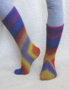 lutik-вязание крючком и спицами: носки от пятки с острова Сааремаа спицами