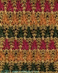 Fireflowers 2 - Knittingfool Stitch Detail