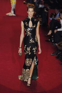 TOM FORD BEADED CHEONGSAM FINALE GOWN