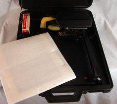Scotch Portable Overhead Projector 589 Travel Case Extra Bulb 3M Presentation  #Scotch