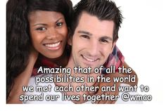 AMAZING THAT OF ALL THE POSSIBILITIES IN THE WORLD, WE MET EACH OTHER AND WANT TO SPEND OUR LIVES TOGETHER. . #relationships #relationship #destiny #meanttobe #1stmeeting #mytobeandme #marriage #engagedcouples #romance Our Life, 20 Years, Destiny, Meant To Be, Relationships, Marriage, Romance, How To Plan, Couples