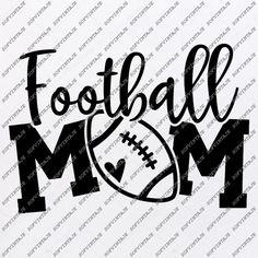 Mom Clipart, Football Mom Shirts, Svg Files For Cricut, Overlays, Screen Printing, Print Design, Clip Art, Anna Miller, Minnesota Vikings