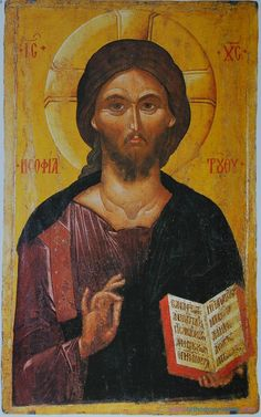 Icon of Christ Pantokrator, late century. Museum of Byzantine Culture, Thessaloniki. Image courtesy of the Art Institute of Chicago Byzantine Icons, Byzantine Art, Oriental, Chicago Museums, Images Of Christ, Holy Quotes, Christ Quotes, National Gallery Of Art, Catholic Saints