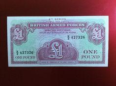 £1 British Forces Banknote Serial Number K/2 427326 Personalised Initial K