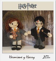 CROCHET - Amigurumi Harry POTTER AND Hermione GRANGER