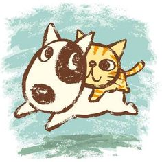 Dog and Cat by Toru Sanogawa, via Behance