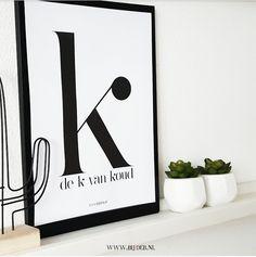 bijdeb: Free printable A4 poster alfabet letter K...