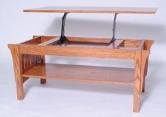 Amish Outlet Store : Mission Lift Top Coffee Table In Oak