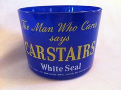 Vintage Carstairs White Seal Glass Ice Bucket c by JaybirdFinds, $30.00