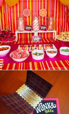 Willy Wonka theme party -- can I please do this in a few years for my 30th? Except call it Jilly Wonka;) Haha
