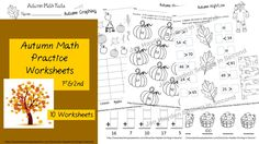 This is a group of ten second grade math worksheets with an Autumn Theme.  Included are: Counting by Tens Adding Several Numbers Two-Digit Addition (no regrouping) Greater Than/Less Than Missing Addends Fact Families Make the Sentence True Place Value Graphing Addition with a Die 2.OA.B.2 2.NBT.A.1a 2.NBT.A.4 2.NBT.B.5