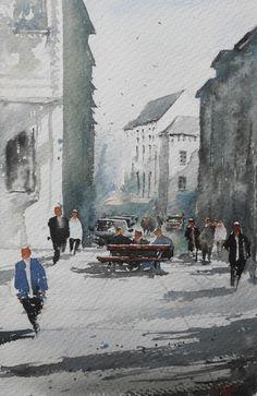 "Duncan Halleck: ""Place Fontainas"" 28x3l, 2016"