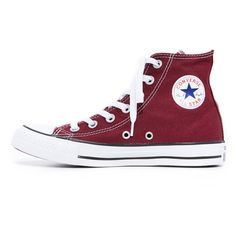 Converse Chuck Taylor All Star High Top Sneakers (3.460 RUB) ❤ liked on Polyvore featuring shoes, sneakers, canvas trainers, star sneakers, canvas high tops, converse trainers and lace up sneakers