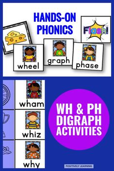 WH and PH digraphs can be TRICKY for our students and it's not easy to find the right phonics practice materials. Add this HUGE set of hands-on centers and games to your small groups and centers to tackle this skill!
