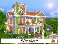 Elizabeth is a family home built on a 50 x 50 lot. Found in TSR Category 'Sims 4 Residential Lots' Lotes The Sims 4, Sims Cc, Fish Pool, Sims 4 House Building, Cartoon House, Casas The Sims 4, Best Sims, Adventure Time Finn, Sims 4 Build