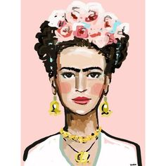 Frida Kahlo Print, roses, 8 x 10, 12x15, 16x20, 24 x 30, 30 x 40 ❤ liked on Polyvore featuring home, home decor, wall art, bodies, abstract home decor, rose wall art, abstract wall art and rose home decor