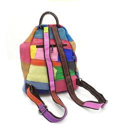 Damen casual Rind Leder Umhängetasche Handtaschen Henkeltaschen Schultertasche Collage Gradient