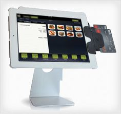 this shows a POS system that is on an ipad so that it is portable