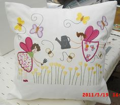 Fairy Cushion - Machine Embroidery and Applique