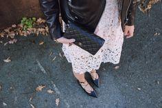 lace-up black flats