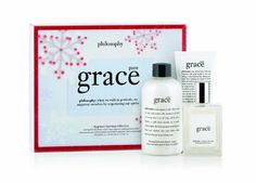 Pure Grace Fragrance Layering Set by Philosophy by Philosophy. $68.95. Feel infinitely clean. Soap and water scent. Layer your fragrance. Feel clean in grace. Pure grace fragrance layering collection includes perfumed foaming bath and shower cream 8 ounce, spray fragrance 2 ounce. And perfumed body butter 2 ounce. Layer the soap and water scent of pure grace during and after your shower or bath to feel infinitely clean from head to toe.