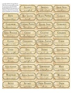 For Strange Women: DIY Spice Jar Labels - A free download to transform your kitchen