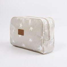 Necessaire Topacio, gris estrella blanca - Cosa Bonita