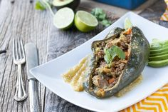 Enchilada stuffed peppers with chili verde #paleo #glutenfree #dairyfree #grainfree