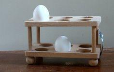 Danish wooden Egg holder