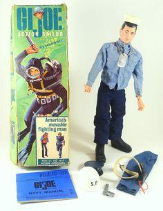 GI Joe Action Sailor #700 1964 & Shore PAtrol Set Hasbro Toy Naval ARAH Artwork #Hasbro
